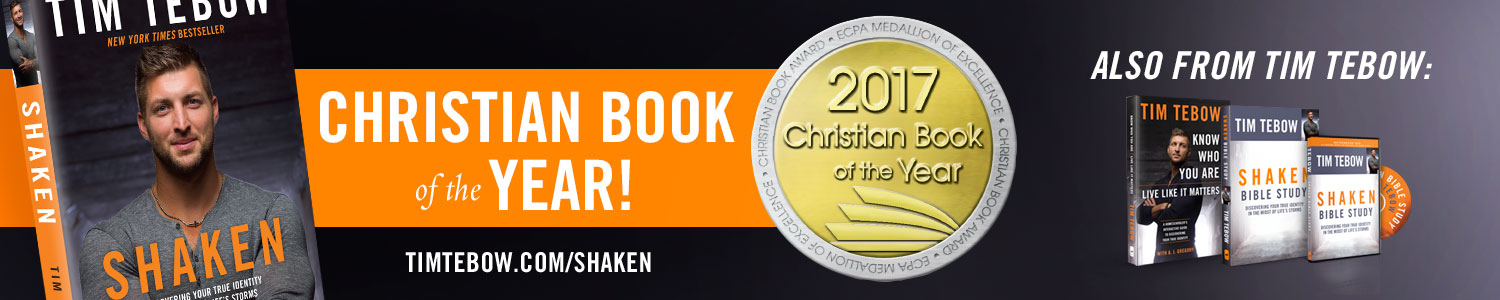 Shaken by Tim Tebow - Winner of the ECPA Christian Book of the Year for 2017